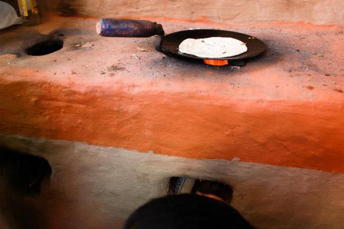 Rocket stove. Kathmandu, Nepal.